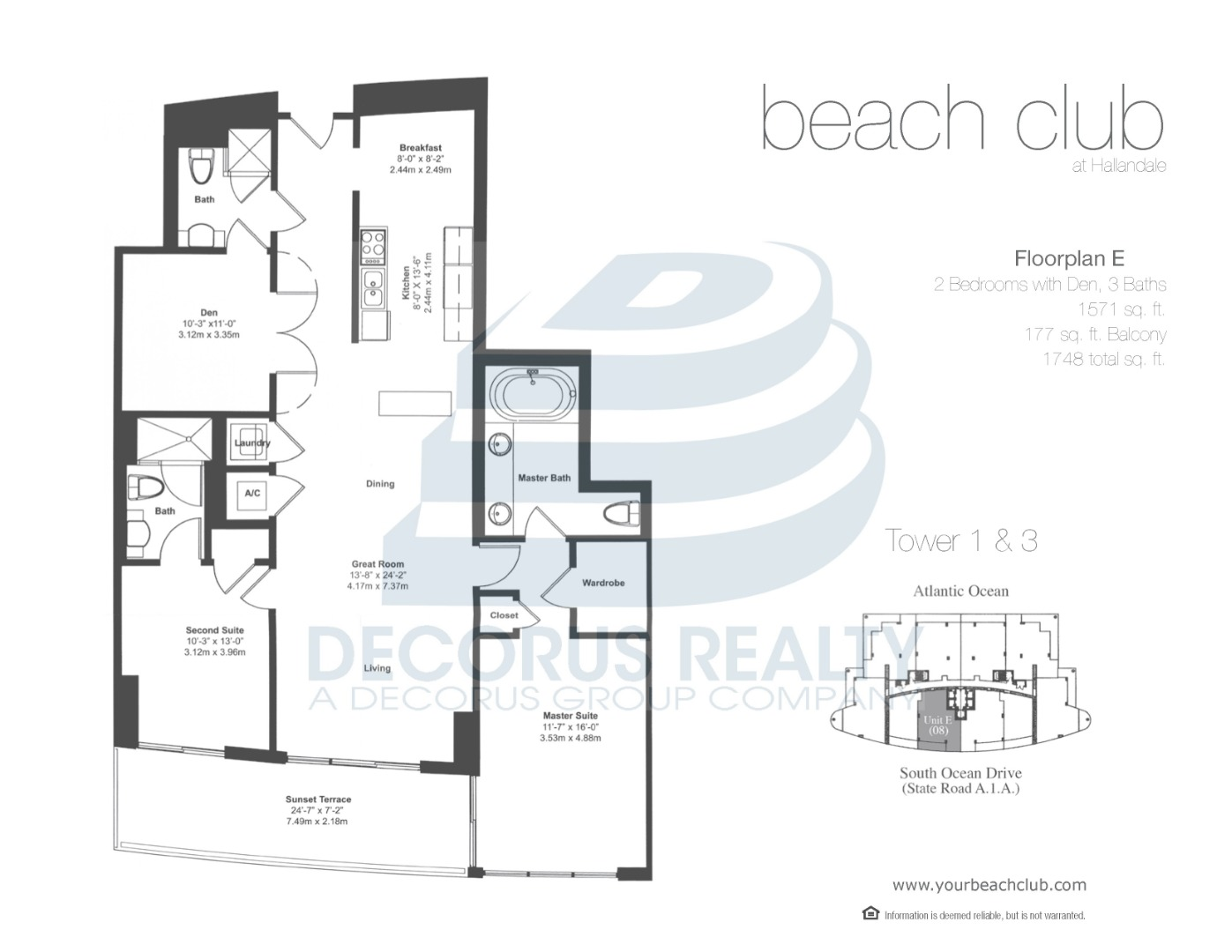 Floor plan image 07-08 - 2+Den/3  - 1571 sqft image
