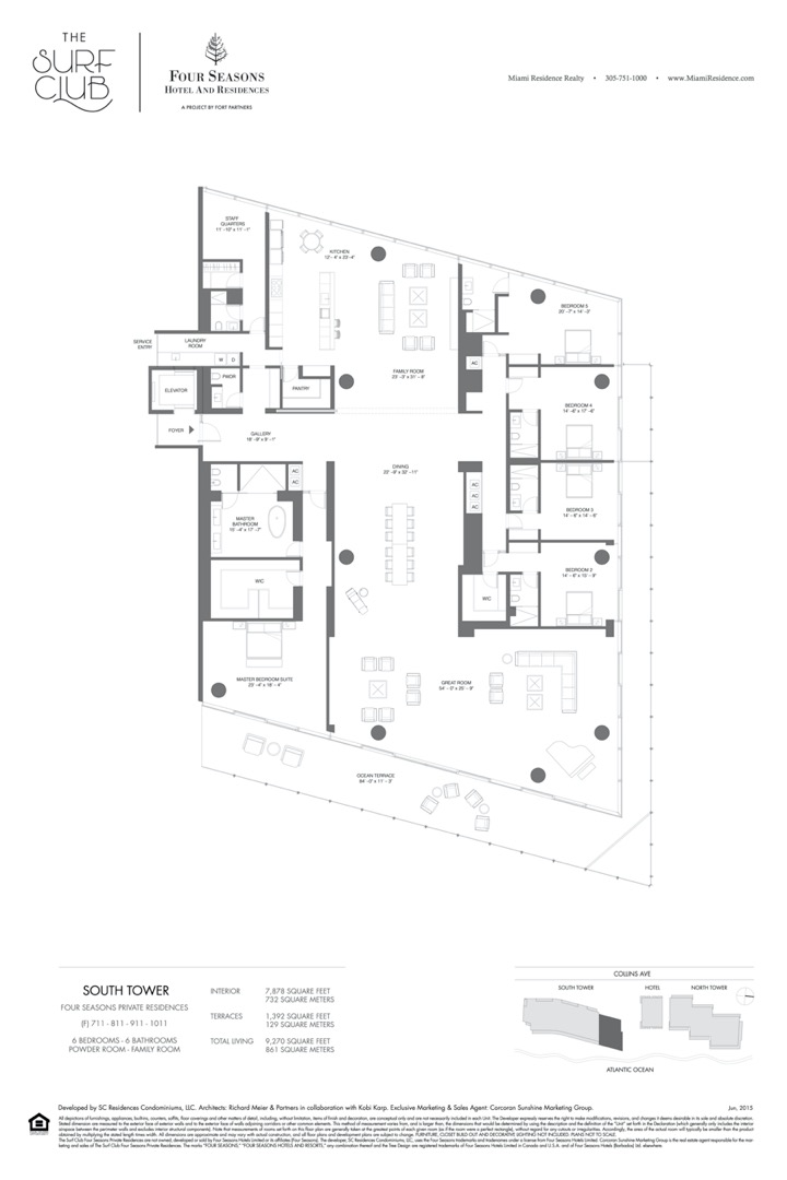 Floor plan image F - 6/6/POWDER ROOM/FAMILY ROOM  - 9270 sqft image