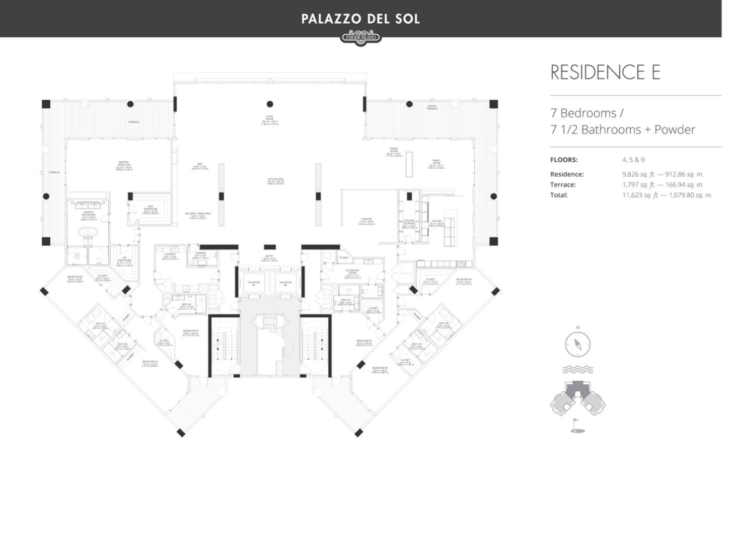 Floor plan image E 4-5 - 3/3  - 9826 sqft image