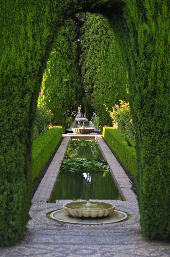 Sculptured art gardens image