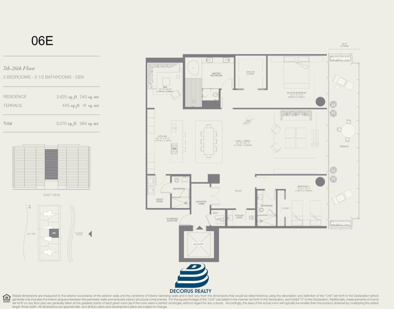 Floor plan image 06E - 2/3.5  - 2625 sqft image