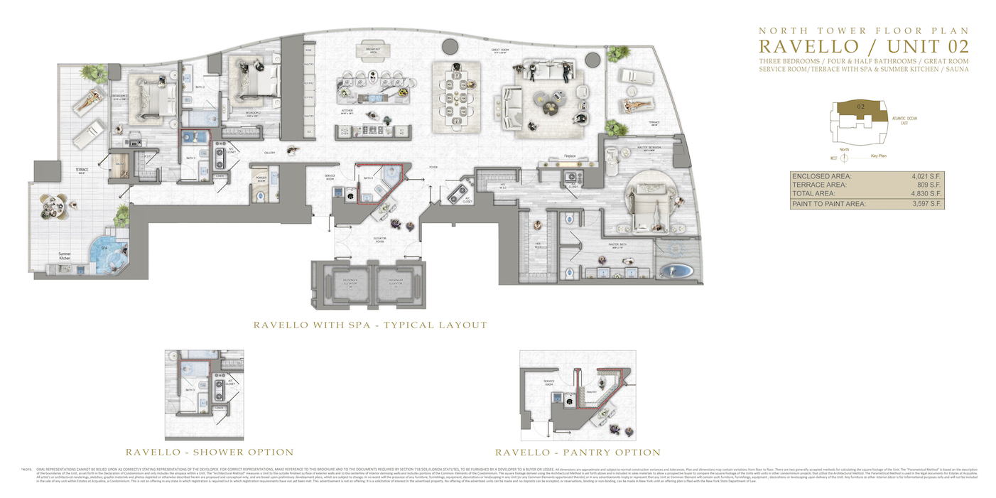 Floor plan image Ravello - 4/6/1  - 4021 sqft image
