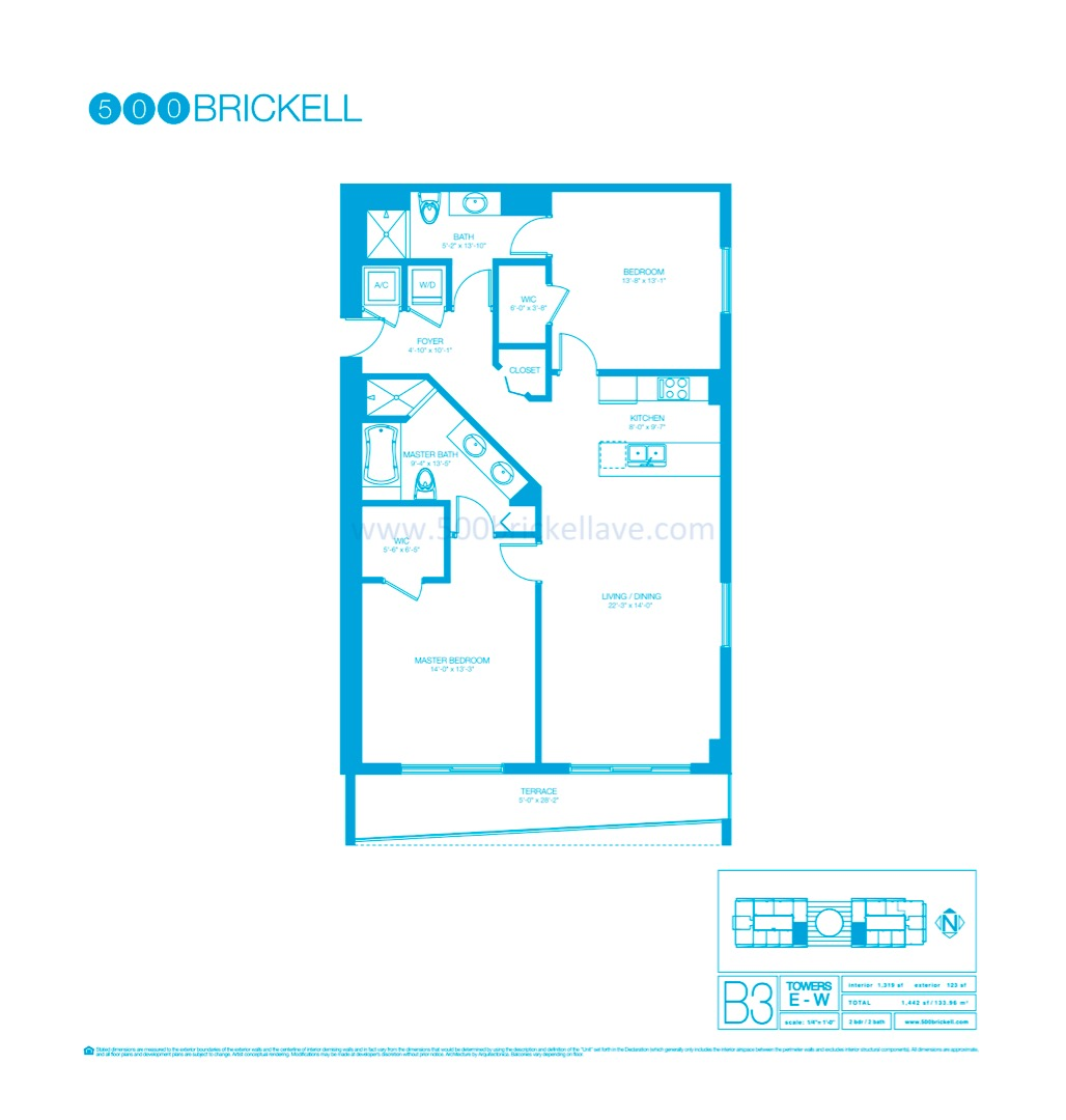 Floor plan image B3 - 2/2  - 1319 sqft image