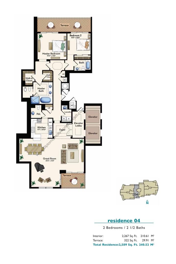 Floor plan image Residence 04 - 2/2/1  - 2267 sqft image