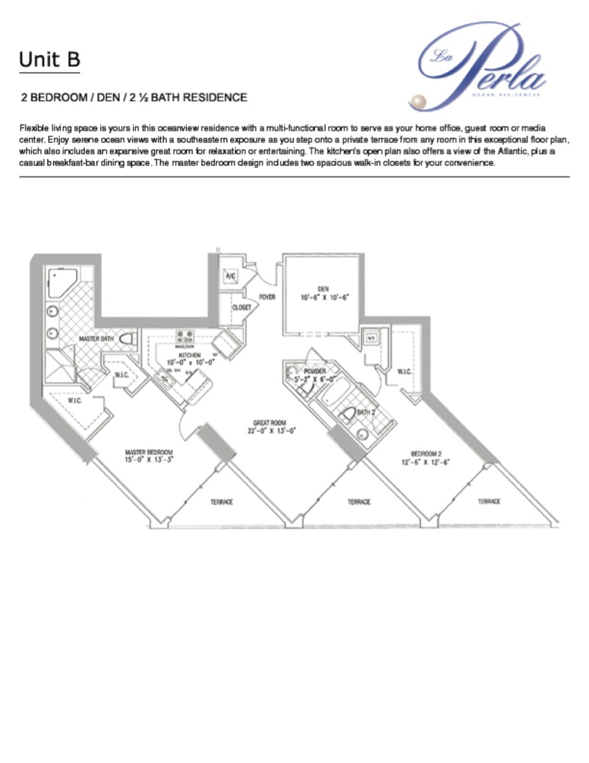 Floor plan image B  - 2/2.5  - 1623 sqft image