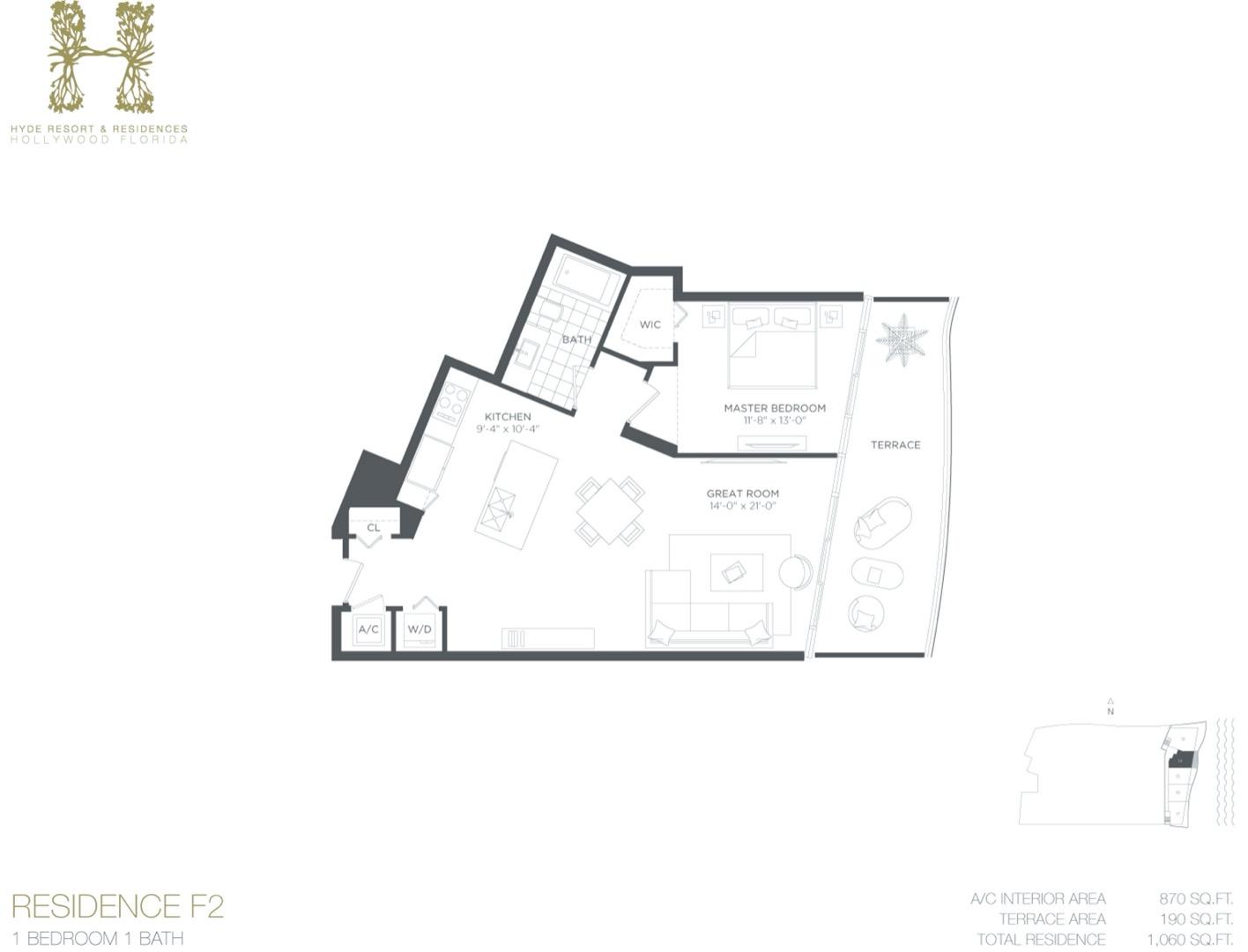 Floor plan image F2 - 1/1  - 870 sqft image