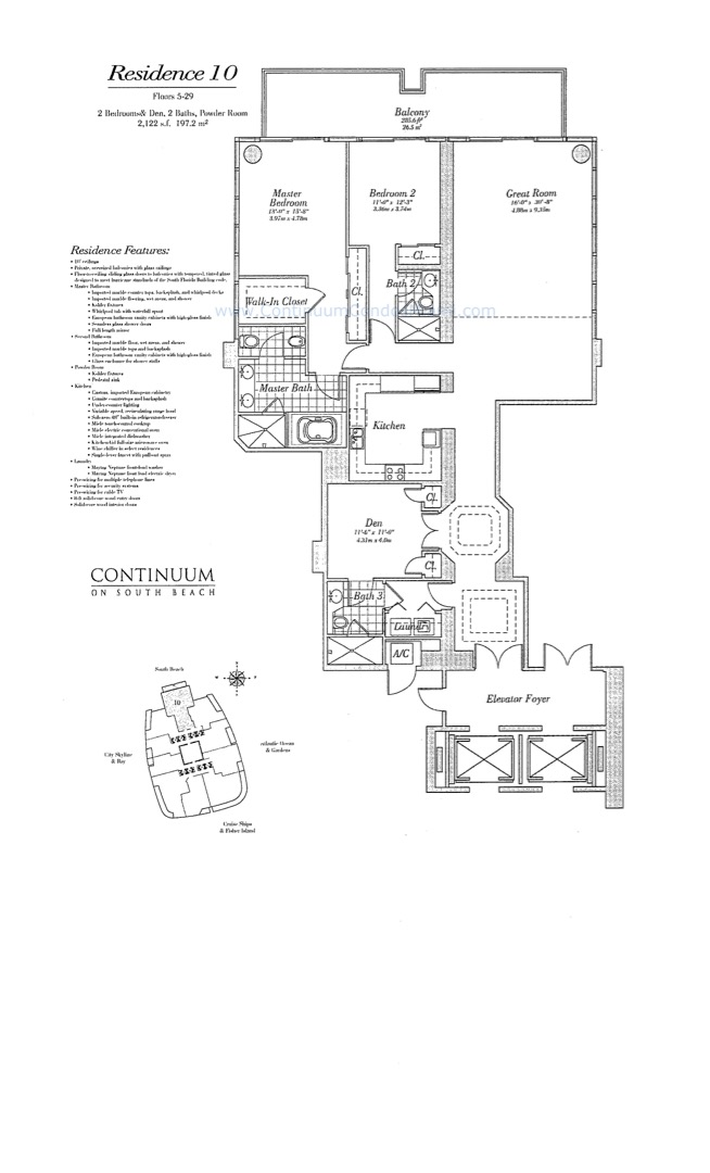 Floor plan image 10 - 3/3/0  - 2122 sqft image
