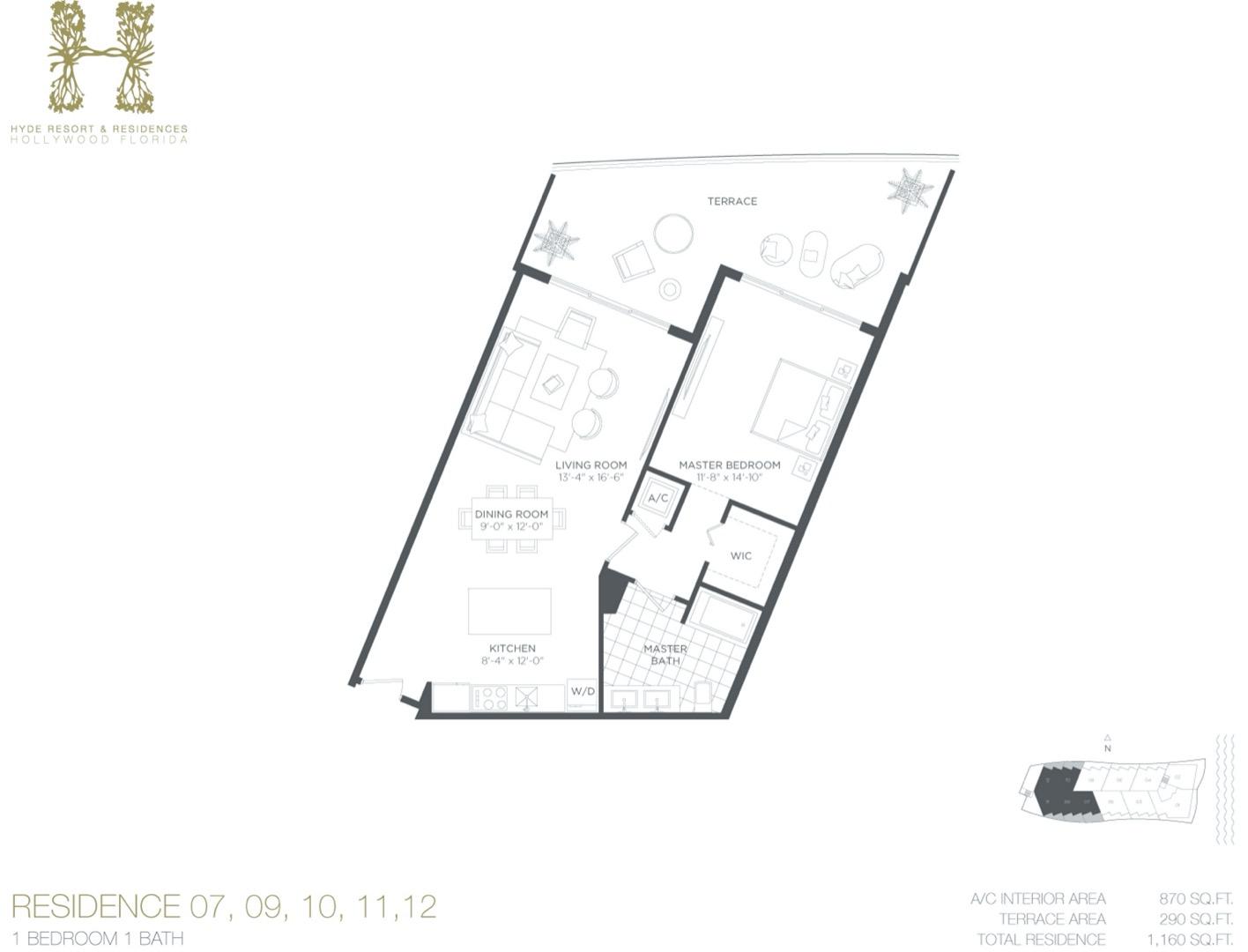 Floor plan image D - 1/1  - 870 sqft image