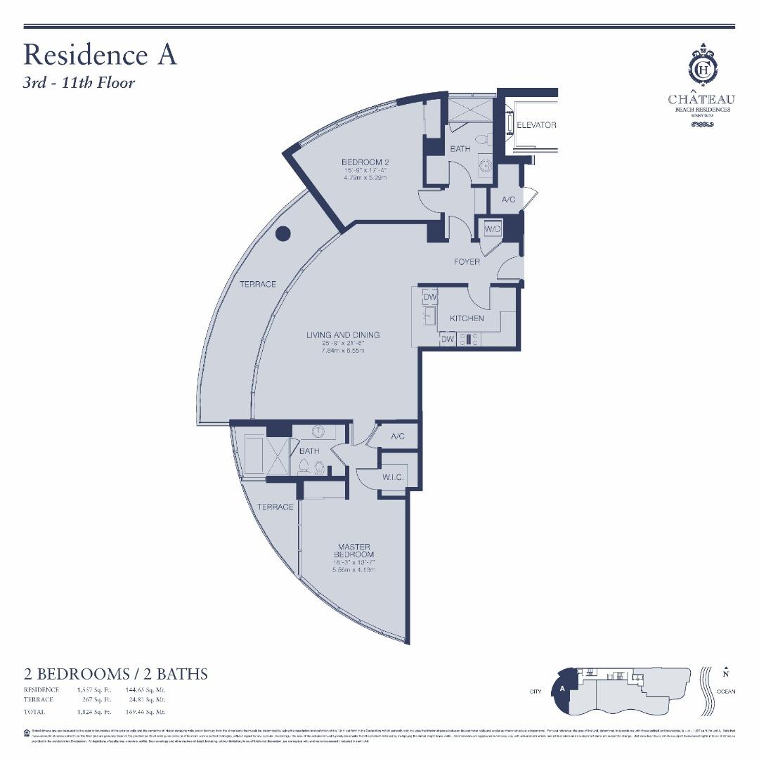 Floor plan image 04-A   304 - 1104 - 2/2  - 1465 sqft image