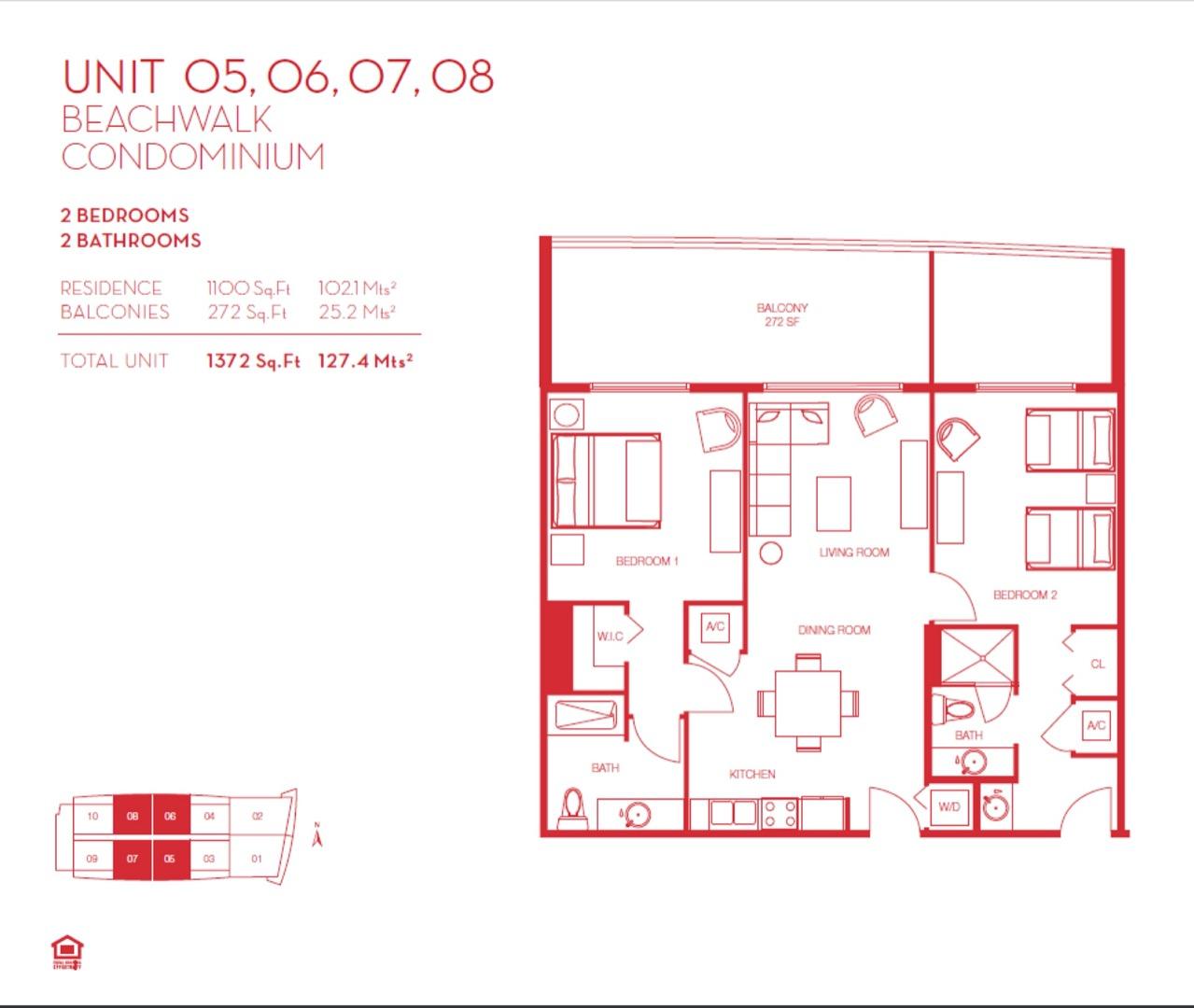 Floor plan image 05, 06, 07 & 08 - 2/2  - 1100 sqft image