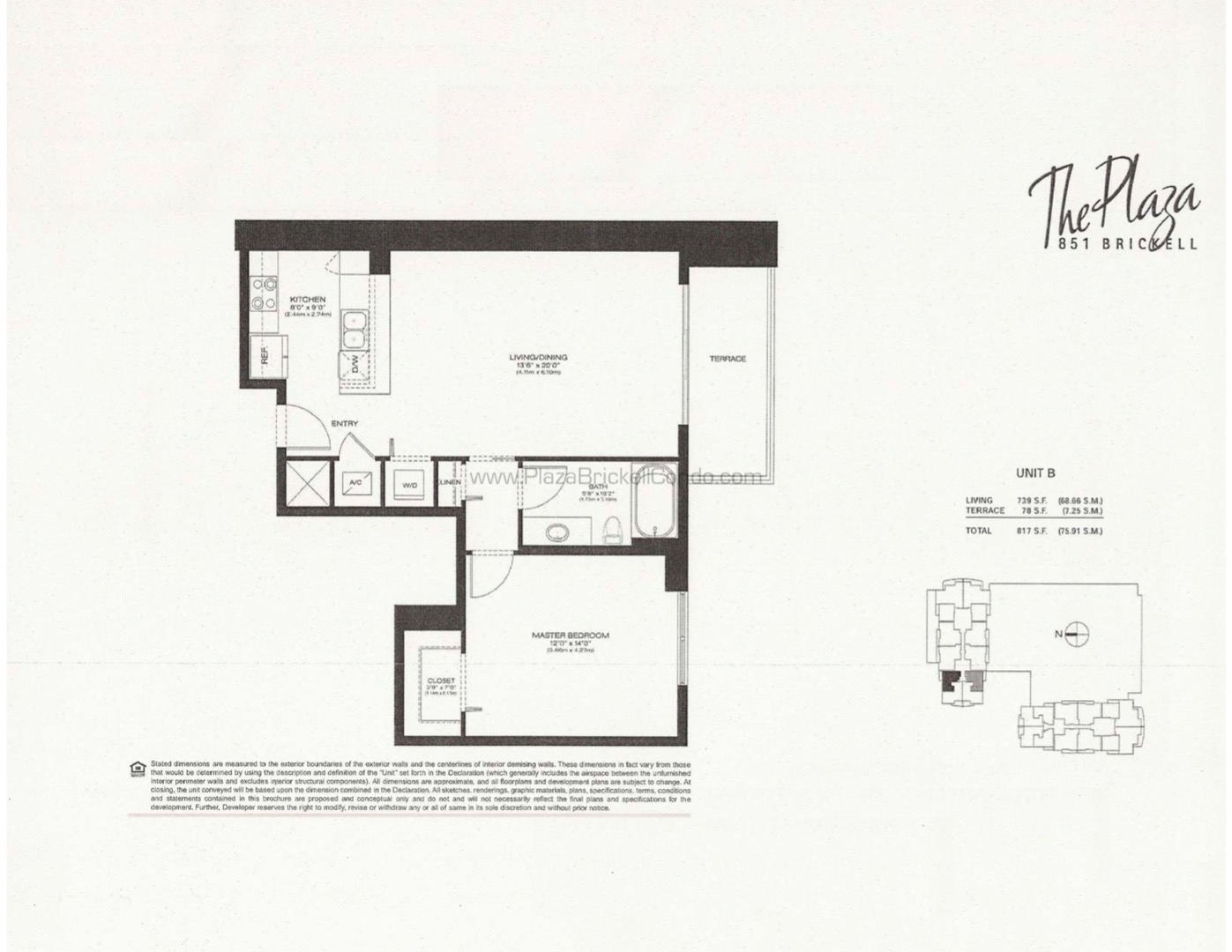 Floor plan image B - 1/1  - 739 sqft image