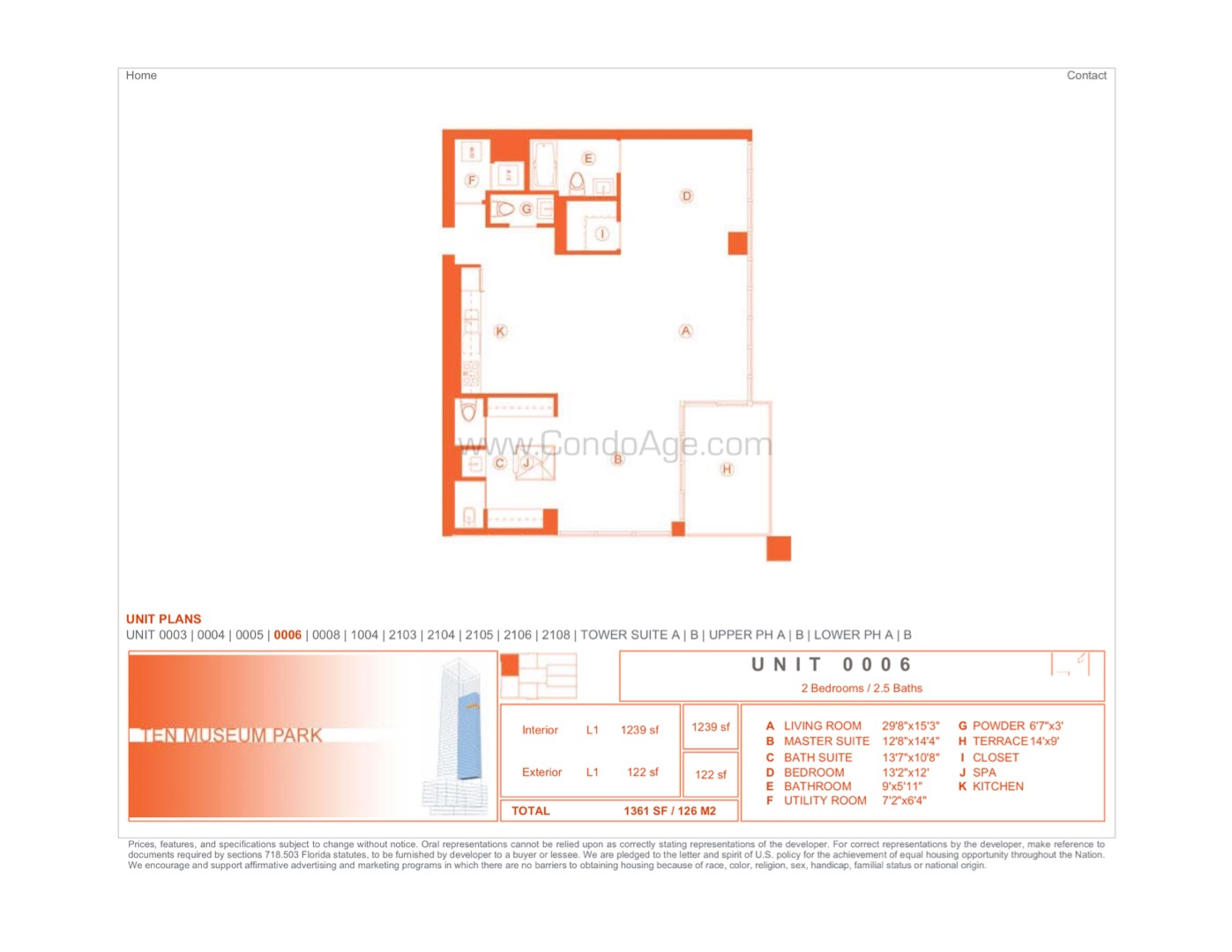 Floor plan image 06 - 2/2/1  - 1239 sqft image