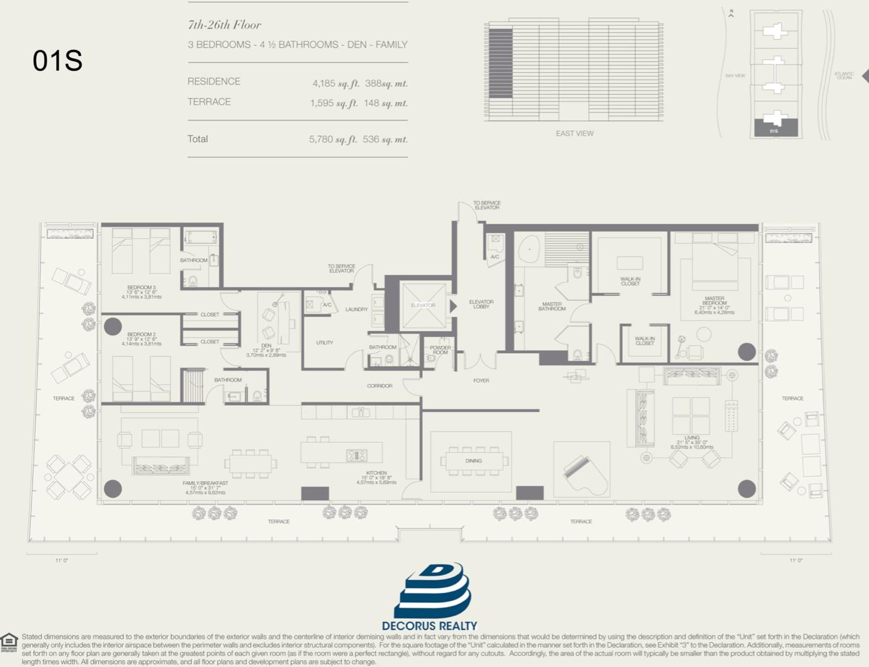 Floor plan image 01S - 3/4.5  - 4185 sqft image