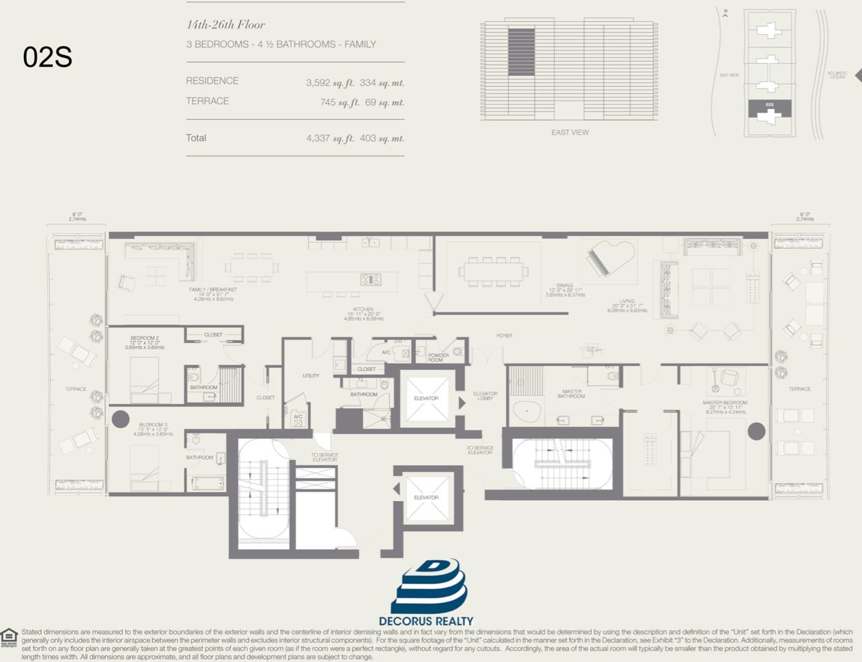 Floor plan image 02S - 3/4.5  - 3592 sqft image