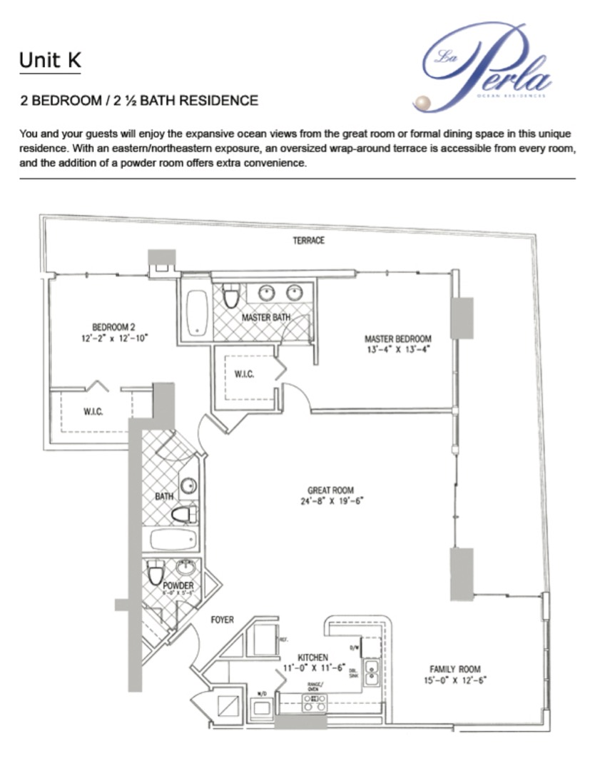 Floor plan image K - 2/2.5  - 1602 sqft image
