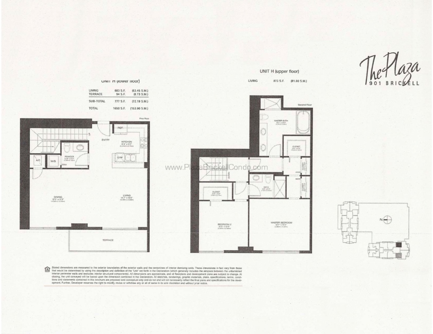 Floor plan image H - 2/2/1  - 2523 sqft image