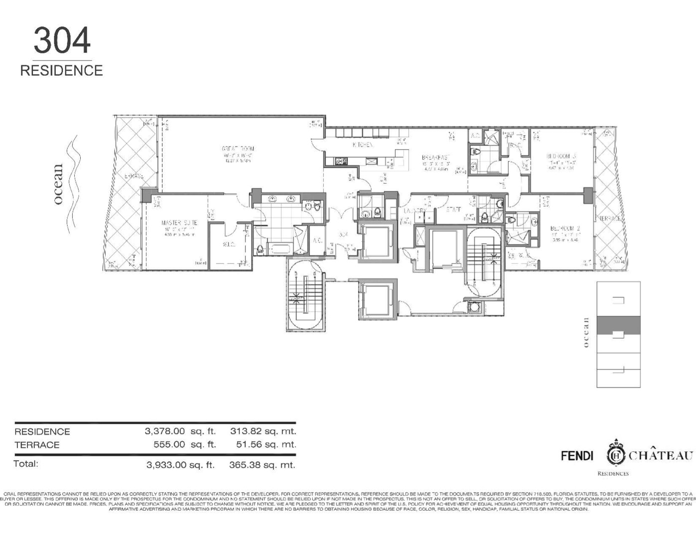 Floor plan image 304 - 3/4.5  - 3933 sqft image