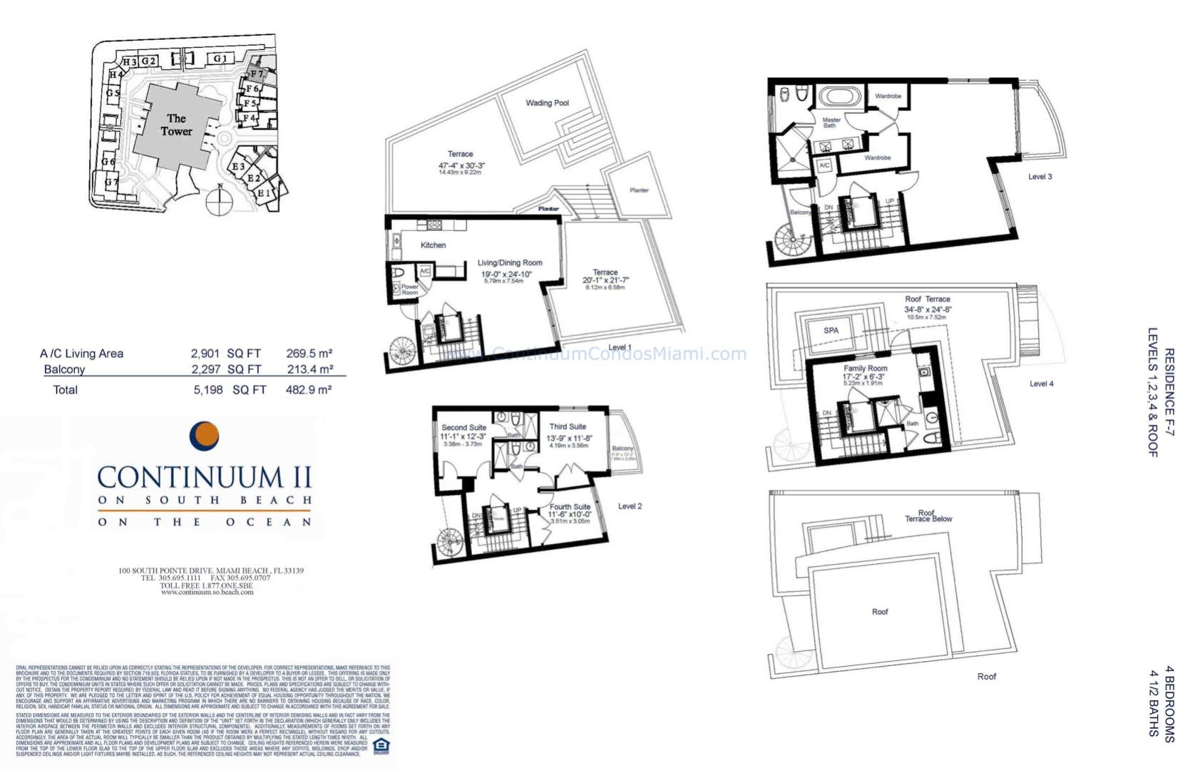 Floor plan image TH7 - 4/4/1  - 5198 sqft image