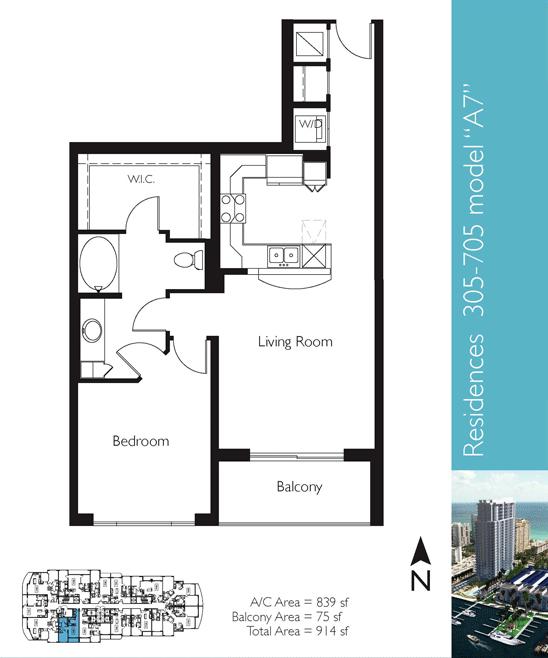 Floor plan image A7 - 1/1  - 839 sqft image