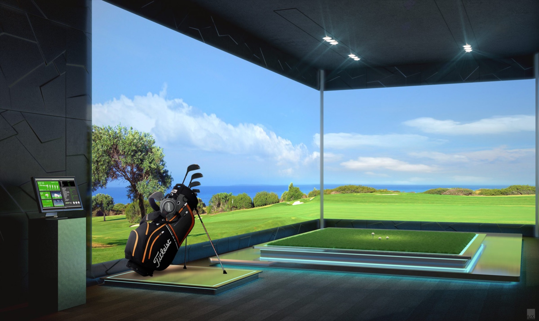 Golf simulator image