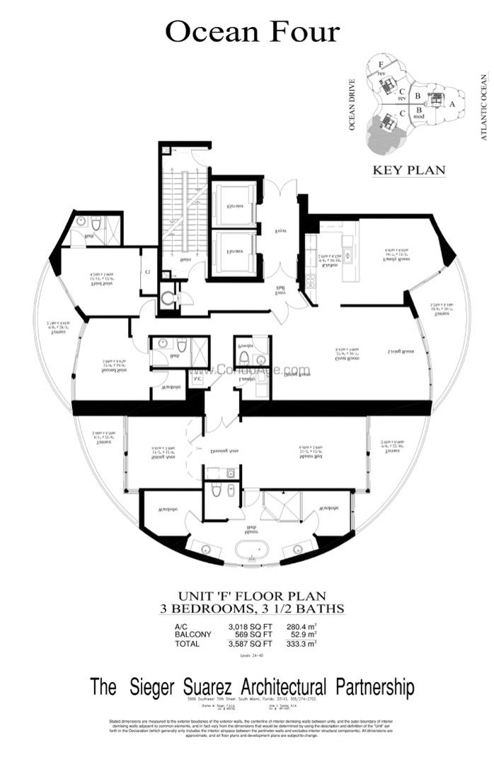 Floor plan image F - 3/3/1  - 3018 sqft image