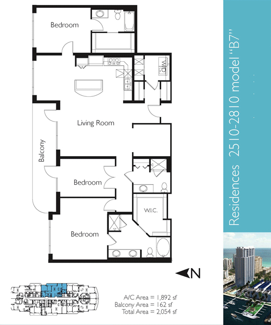 Floor plan image B7 - 3/3  - 1892 sqft image
