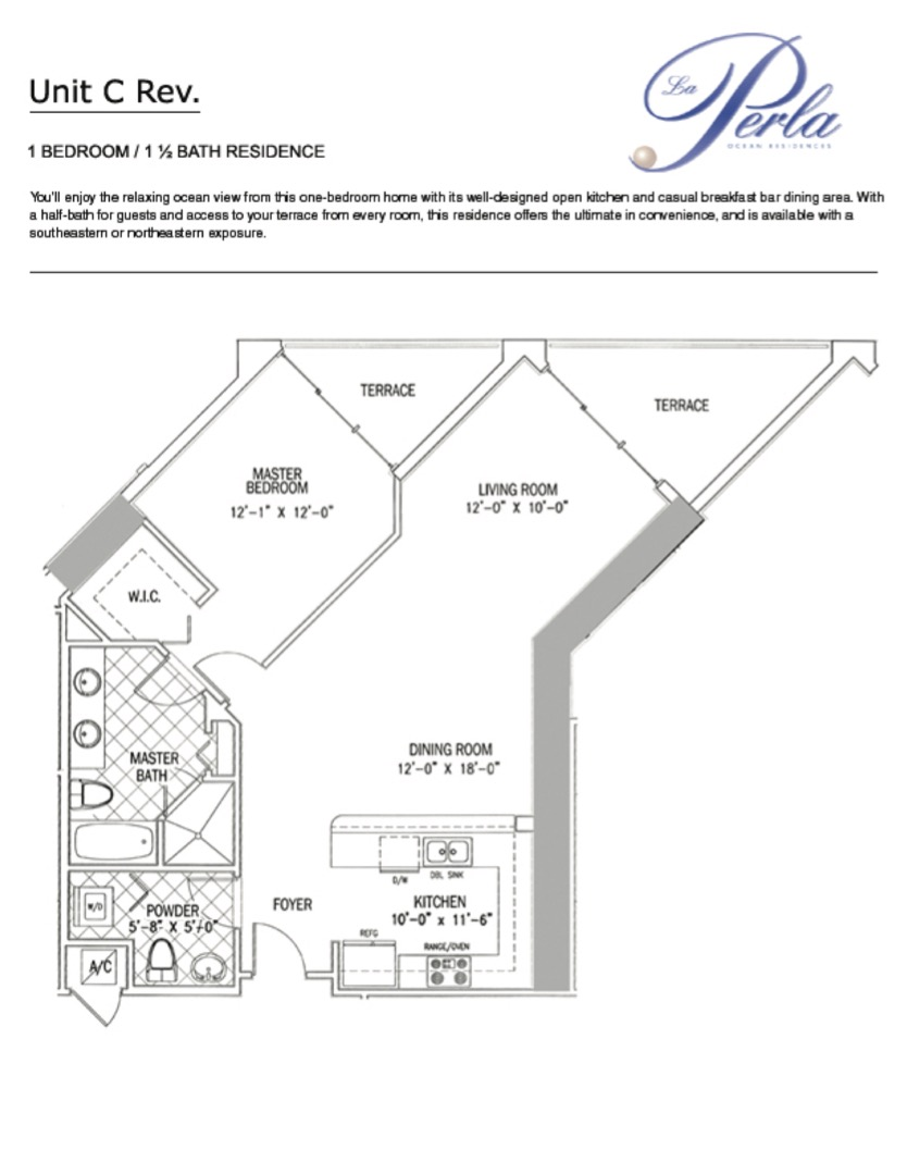 Floor plan image C-rev - 1/1.5  - 1000 sqft image