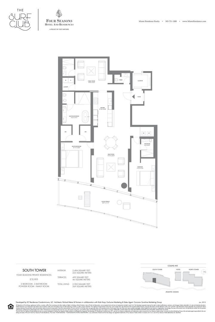 Floor plan image C2 - 2/3/FAMILY ROOM/POWDER ROOM  - 2903 sqft image