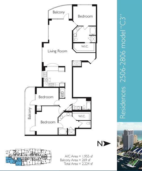 Floor plan image C3 - 3/3  - 1955 sqft image