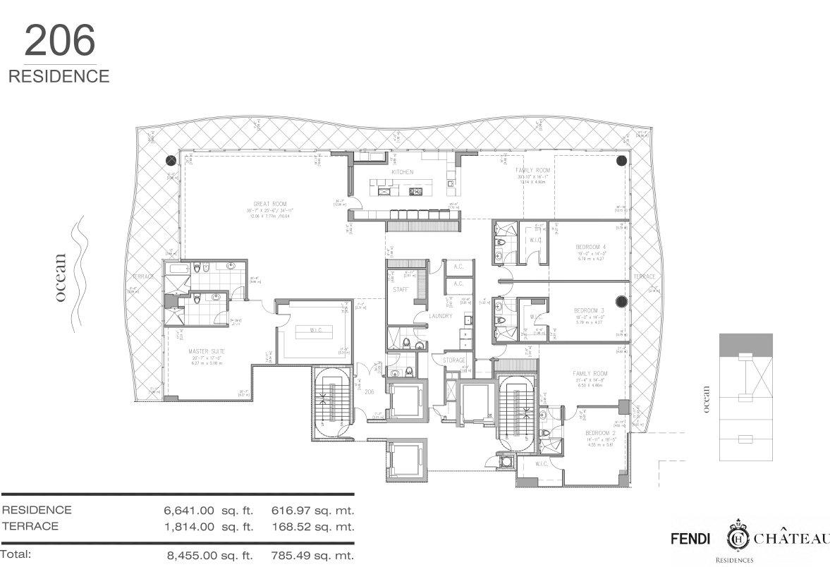 Floor plan image 206 - 4/5.5  - 8455 sqft image