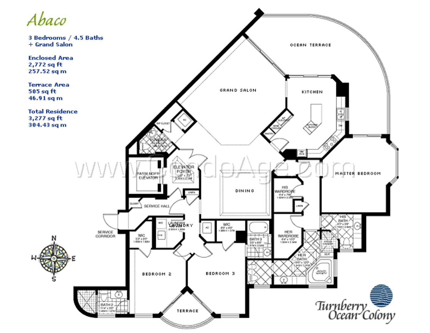 Floor plan image Abaco - 3/4/1  - 2772 sqft image