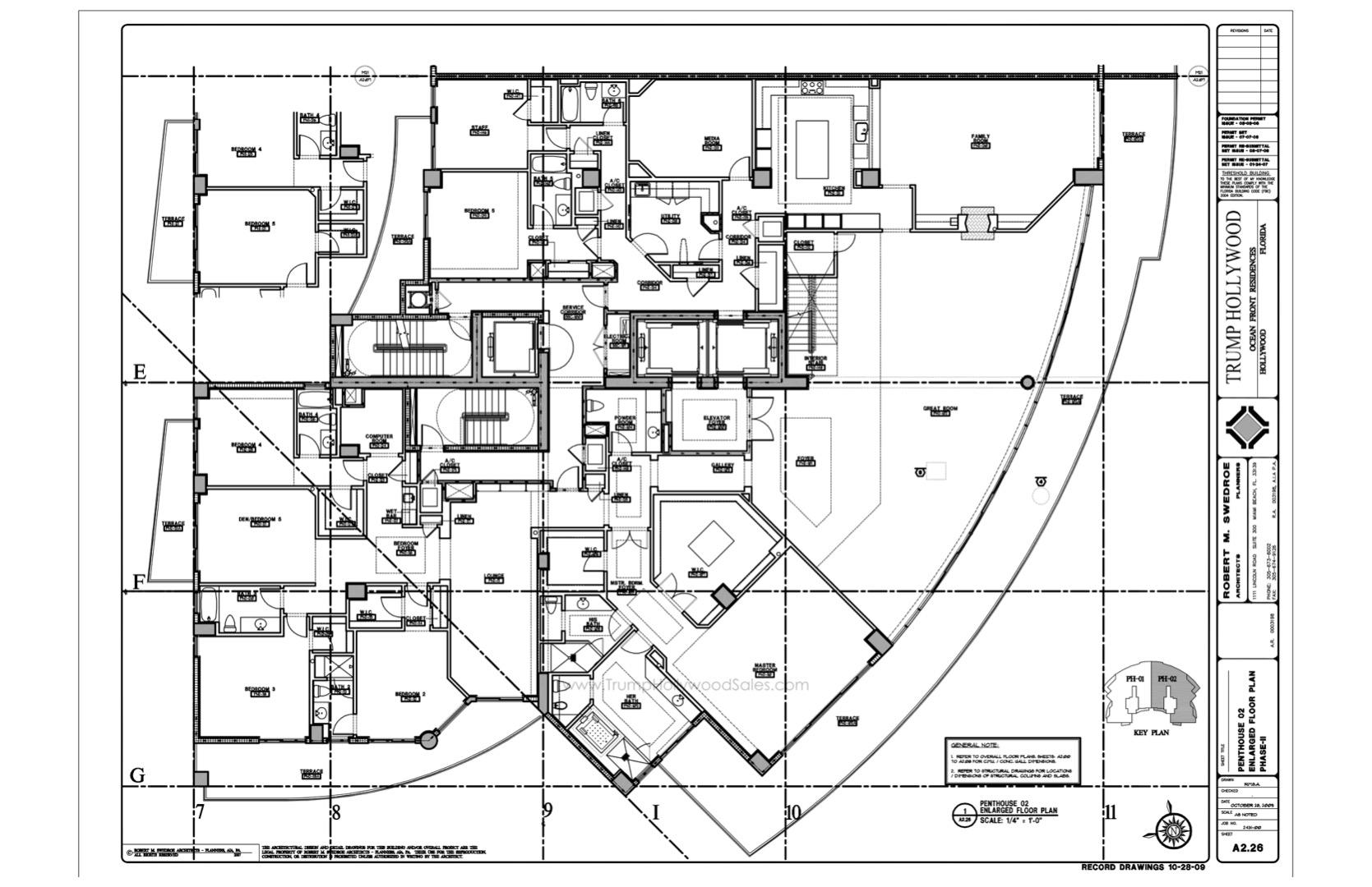Floor plan image Upper Penthouse 02 - 6/6/1/+FamilyRoom+GreatRoom+Media+Lounge+Terrace  - 8926 sqft image