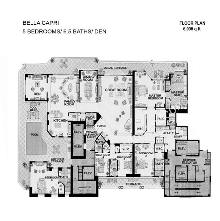 Floor plan image Bella Capri - 4/6/1  - 6360 sqft image