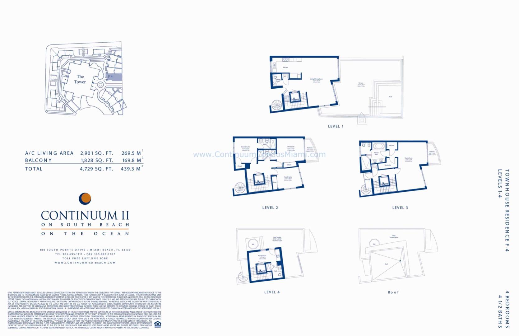 Floor plan image TH4 - 4/4/1  - 4729 sqft image