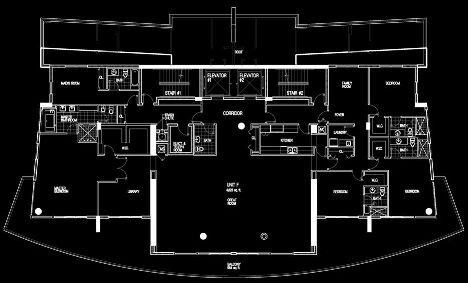 Floor plan image Penthouse - 5/5/1  - 5041 sqft image