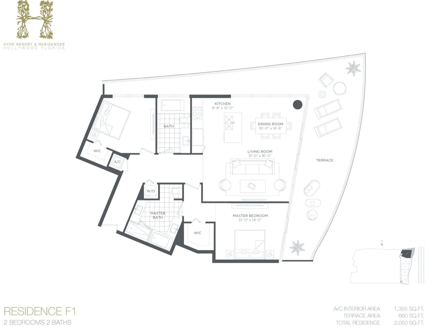 Floor plan image F1 - 2/2  - 1355 sqft image