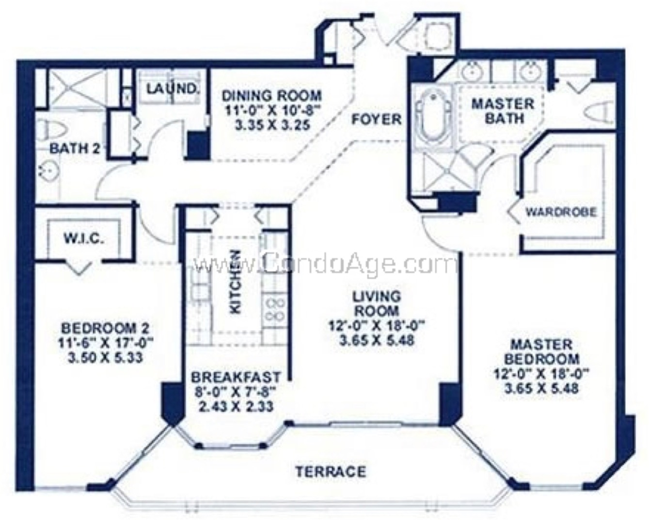 Floor plan image CR - 2/2  - 1505 sqft image