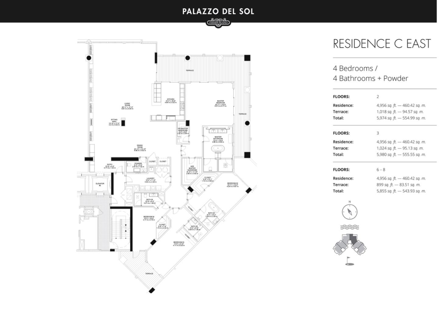 Floor plan image C East 2-8 - 4/4  - 4956 sqft image