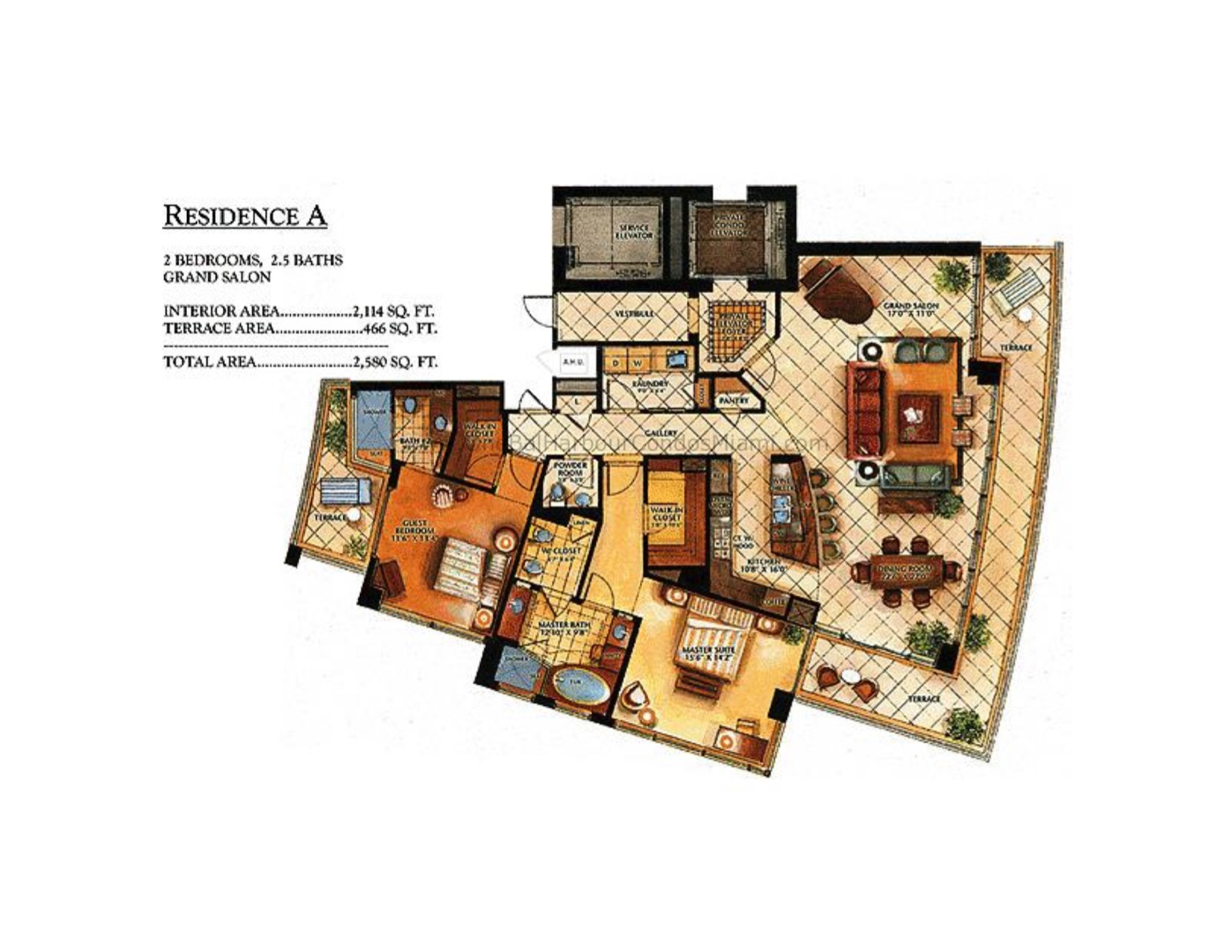 Floor plan image A - 2/2/1  - 2114 sqft image