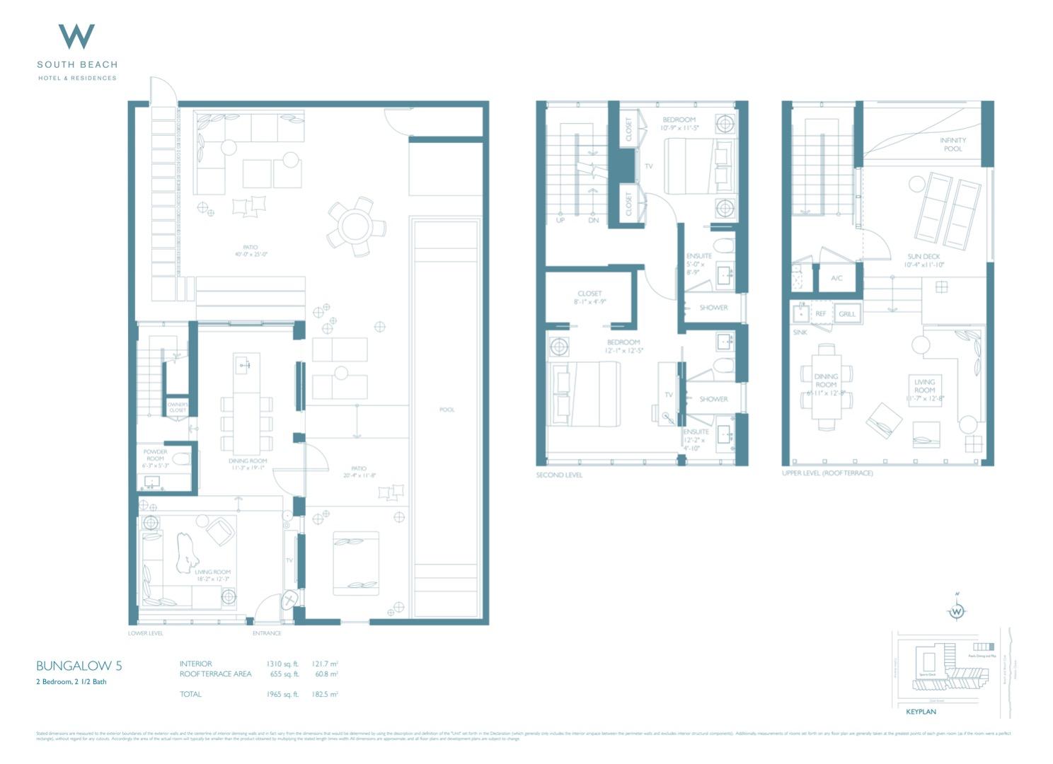 Floor plan image Bungalow 5 - 2/2/1  - 1965 sqft image