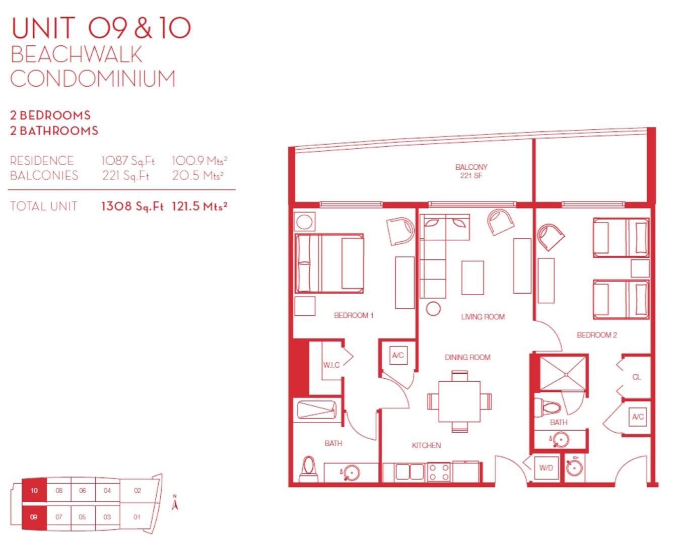 Floor plan image 09 & 10 - 2/2  - 1087 sqft image