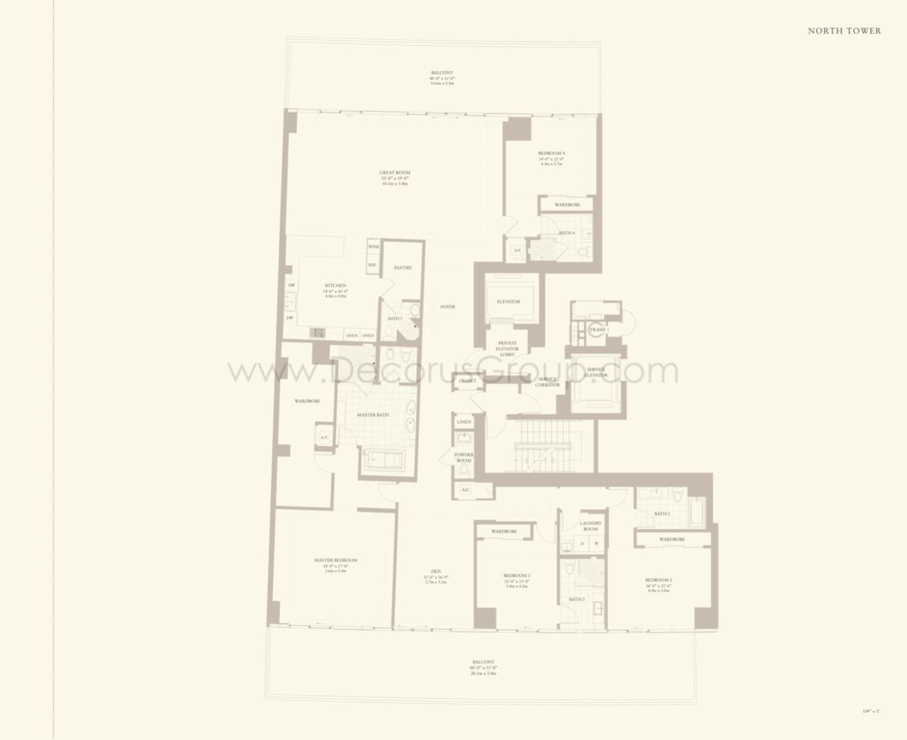Floor plan image Mayfair - 4/4.5 + Den  - 3912 sqft image