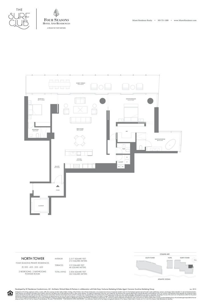 Floor plan image F - 2/2/POWDER ROOM  - 2836 sqft image