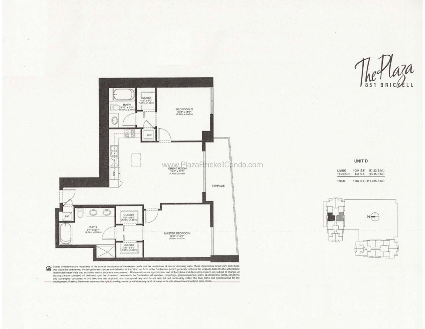 Floor plan image D - 2,2  - 1054 sqft image