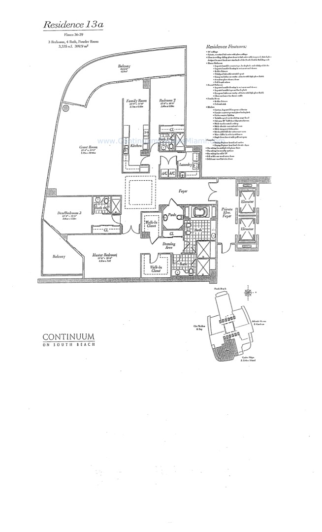 Floor plan image 13A - 3/3/1  - 3258 sqft image