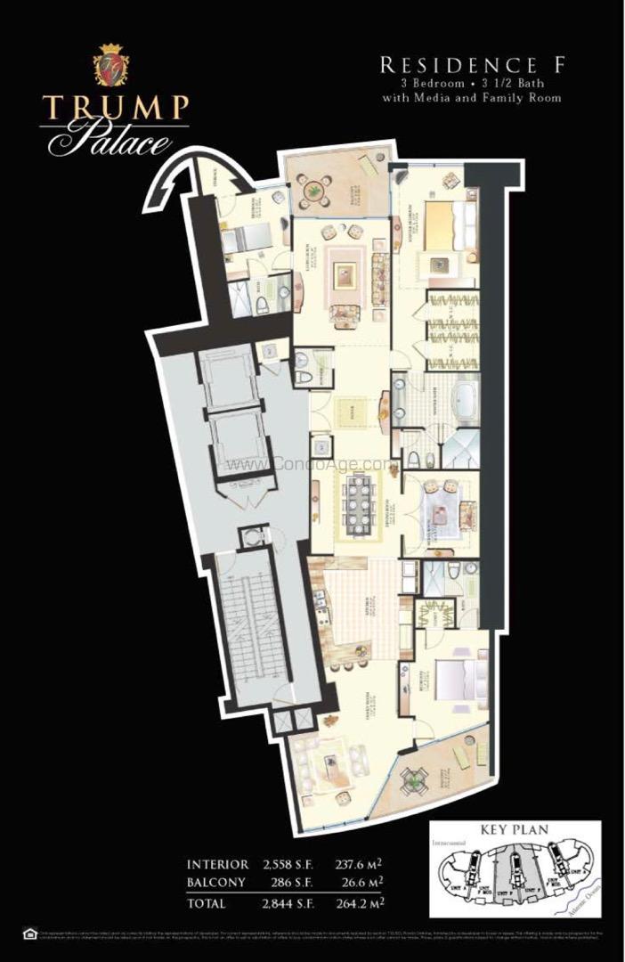 Floor plan image F - 3/3/1  - 2558 sqft image