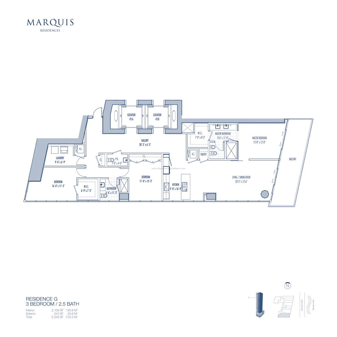 Floor plan image G - 3/2/1  - 2106 sqft image