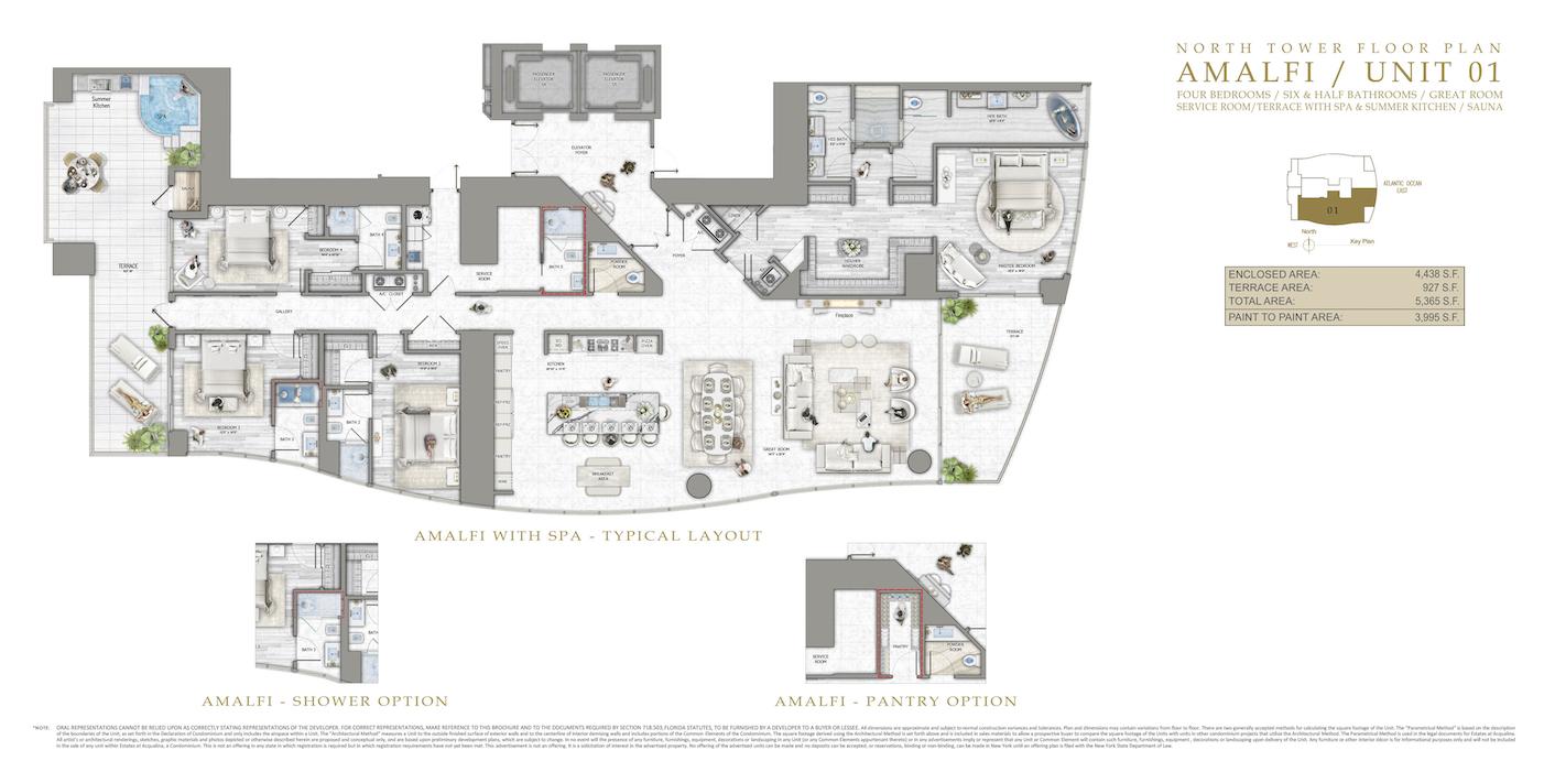 Floor plan image Amalfi - 5/6/1/ServiceRoom/Spa/SummerKitchen/Sauna  - 5365 sqft image