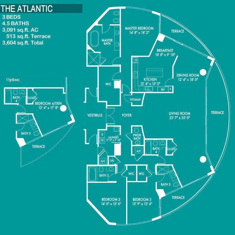 Floor plan image The Atlantic - 3/4/1  - 3604 sqft image