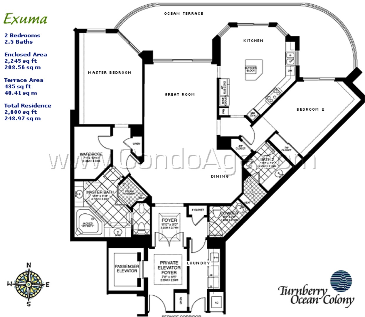 Exuma floor plan image